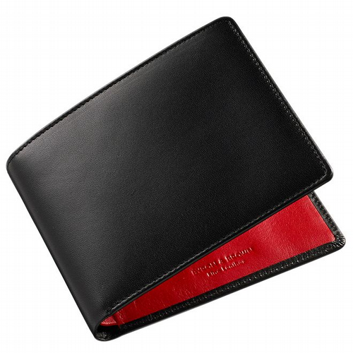 Two Colours Leather Wallet - Black & Red